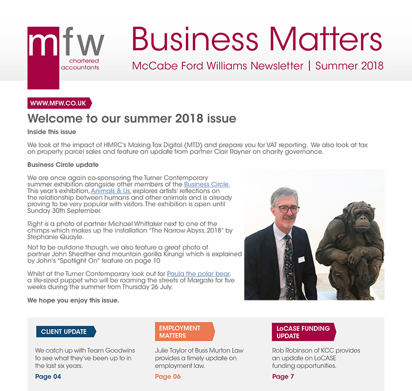 MFW Business Matters summer 2018 front page image