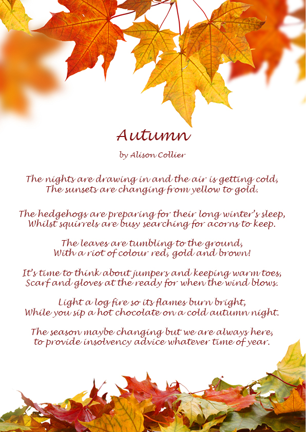 Autumn leaves poem